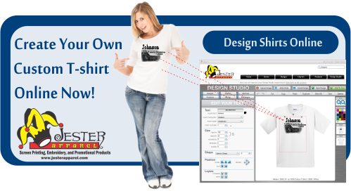 Design Your T Shirt Online | Custom T Shirts Screen Printing Embroidery Promotional Products